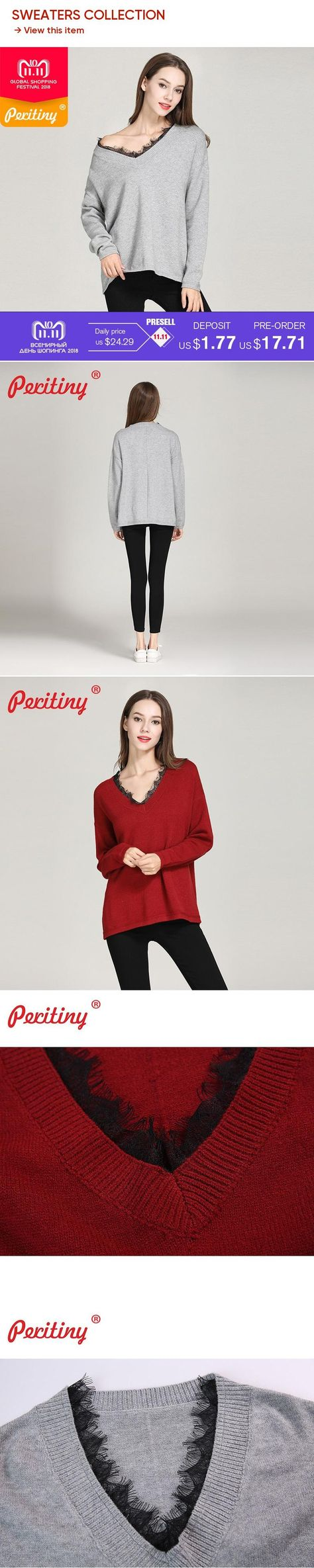 Peritiny Korean Fashion Swater Female Knitted Angora Jumper Sexy V-Neck  Maglioni Donna Clothes Women 5168041f55bb