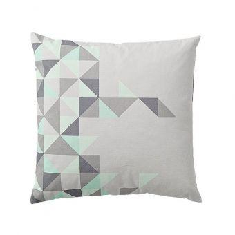Bloomingville Kissen Triangles Mint Grau Online Kaufen Emil