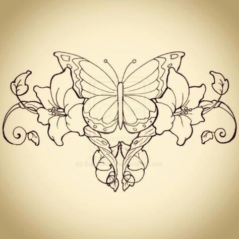 83de12109 filigree butterfly tattoo designs - Google Search | Amber | Lower back  tattoos, Back tattoos, Vine tattoos