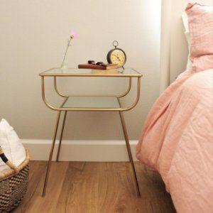 Curved Terrace Nightstand Mirrored Nightstand Bedroom