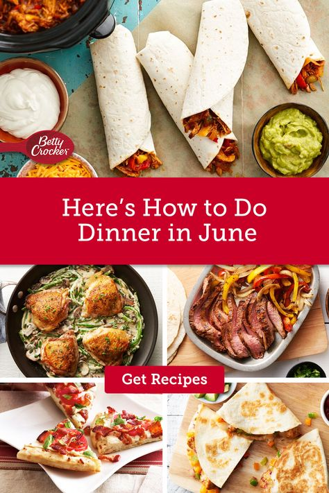 Wondering How to Do Dinner in June? These easy, delicious summer meal ideas show you how. Pin now for simple recipes at the ready.