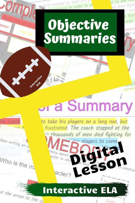 Objective Summaries: Fiction