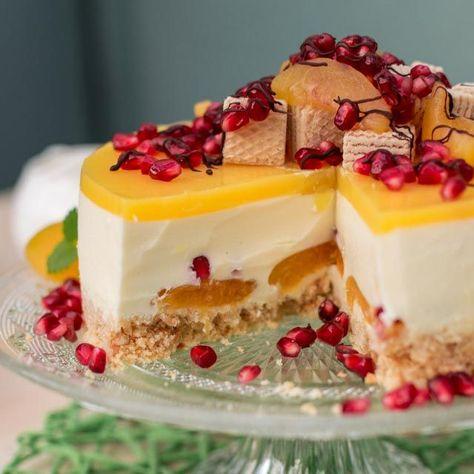 Photo of Joghurttorten-Rezept mit Aprikosen und Granatapfelkernen – fruchtig lecker