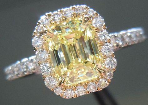 Rare Diamonds { Emerald Cut Diamonds | Loose Yellow Diamonds
