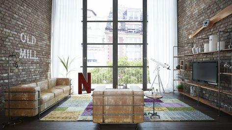 Industriele Woonkamer Interieur : Wil je meer warmte in een industriële woonkamer kies voor hout