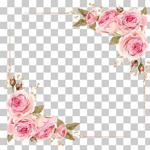 Wedding Invitation Flower Rose Pink Rose Border Pink Rose Flower Digital Photo Frame Png Cli Flower Wreath Illustration Flower Illustration Flower Frame Png