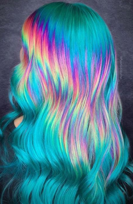 15 Cool Rainbow Hair Color Ideas For Festival Goers It is time to get creative and stand out with these amazing rainbow hair color ideas that y ou will be rocking in SEE DETAILS. Vivid Hair Color, Cute Hair Colors, Pretty Hair Color, Beautiful Hair Color, Hair Dye Colors, Bright Hair Colors, Colourful Hair, Bright Colored Hair, Colorful