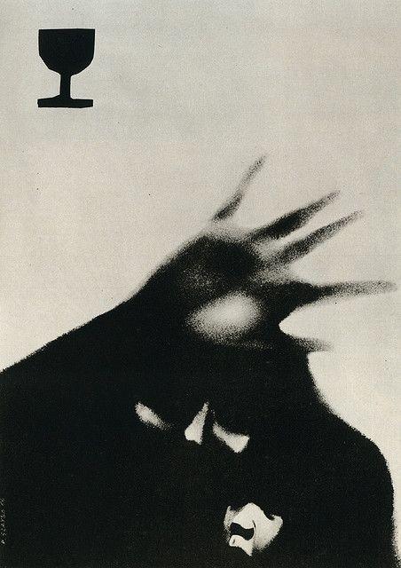 poster for anti-alcohol campaign art by rosław szaybo Art Partner, Internet Art, Monochrom, Graphic Design Posters, Psychedelic Art, Aesthetic Art, Dark Art, Art Inspo, Cover Art