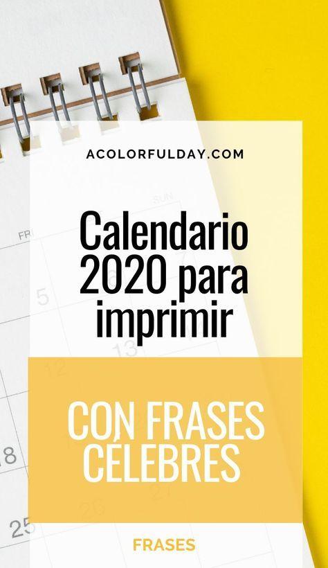 Calendario Ecolan 2021 Calendario 2020 y Calendario 2021 con Frases Célebres (para