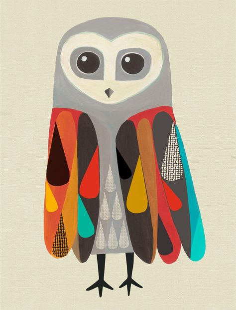 Shop online for NZ Art Prints, NZ design prints, posters. Art And Illustration, Owl Art, Bird Art, Desenho Kids, Creative Review, Inspiration Art, Grafik Design, Art Design, Cover Design