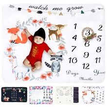 Fleece Baby Monthly Milestone Blanket Extra Large Photography Background Blanket