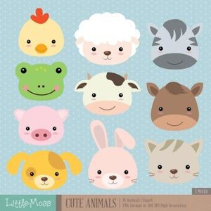 15+ Digital Clipart Farm Animals