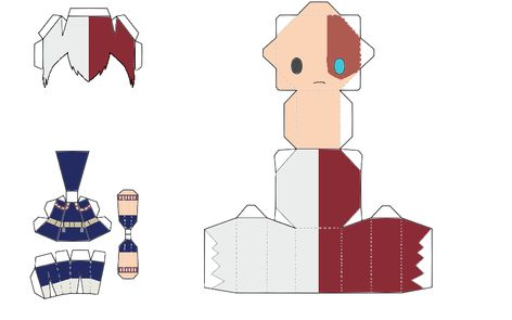 Deku Chibi Papercraft Template by JulietRuth on DeviantArt Anime Diys, Anime Crafts, Instruções Origami, Paper Crafts Origami, Haikyuu Anime, Anime Chibi, Otaku Anime, Anime Art, Figurine Anime