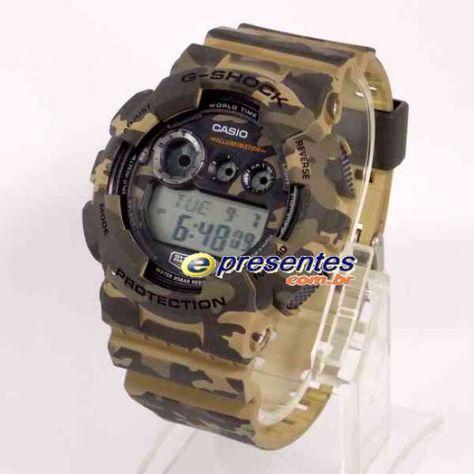 7058a78e092 GD-120CM-5DR Relogio Casio G-Shock Camuflado Estilo Militar ...