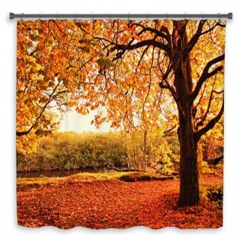 Beautiful Autumn In The P Custom Size Shower Curtains