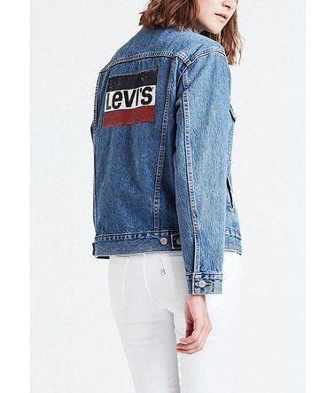 Levi's® Jeansjacke »Boyfriend Pailletten« in 2019 | Jacken