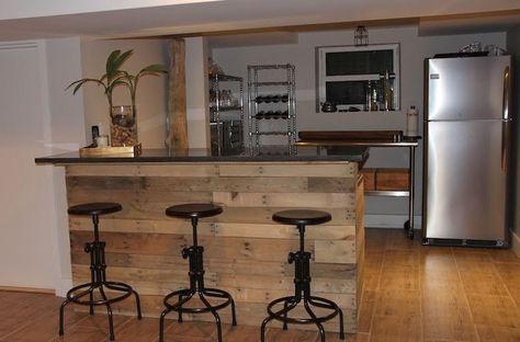 Diy Bar En Palette 26 Idees Et Photos Pour Le Fabriquer Vous Meme Bar En Palette Fabriquer Un Bar Et Meuble Bar