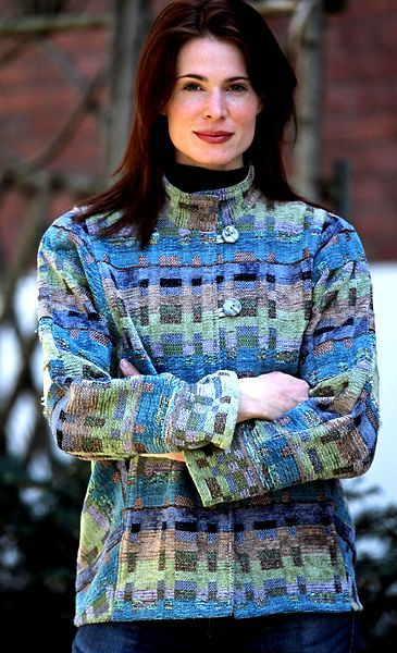 LucilleCrighton handwoven fabrics. These luscious color combinations have the look of Kaffe Fassett Missoni knits. myb
