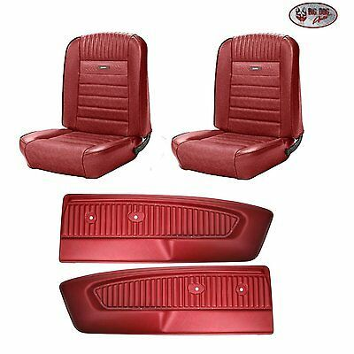 Pony Seat Upholstery F R 1964 1966 Ford Mustang Pony Door Panels Dk Red Ebay In 2020 1966 Ford Mustang Ford Mustang Ford Mustang Convertible