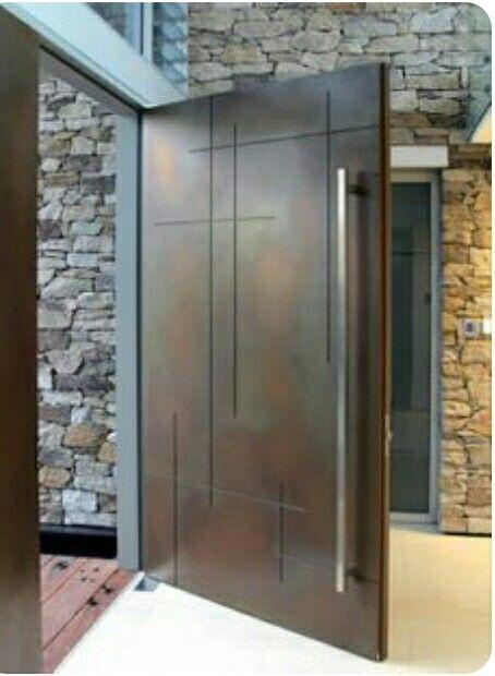 portes-d-entree-bois-Red-Cedar-Nativ-2 House Pinterest Red