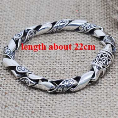 Real Pure 925 Sterling Silver Bracelets