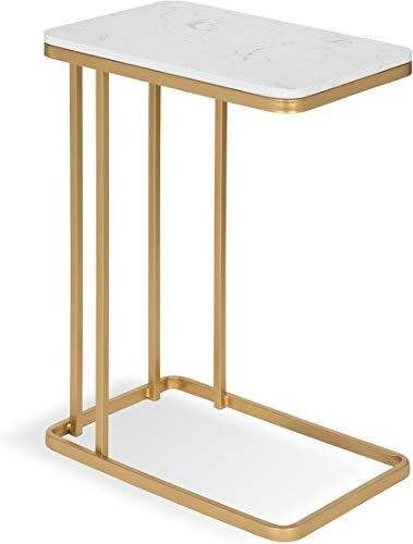 New Kate Laurel 213078 Credele Modern Glam Sofa Side C Table Gold Metal Base Man Made Marble Top 12x18 5x27 Online Shopping Living Room Furniture In 2019 Table End Tables Living Room Sofa