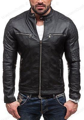 Athletic Slim Fit Bodybuilder Mens Lamb Skin Black Leather Jacket Coat All Sizes Jacket Leather Jacket Men Jackets Men Fashion Lambskin Leather Jacket