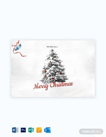 Simple Christmas Card Template Free Pdf Word Psd Apple Pages Publisher Outlook Christmas Card Template Simple Christmas Christmas Cards