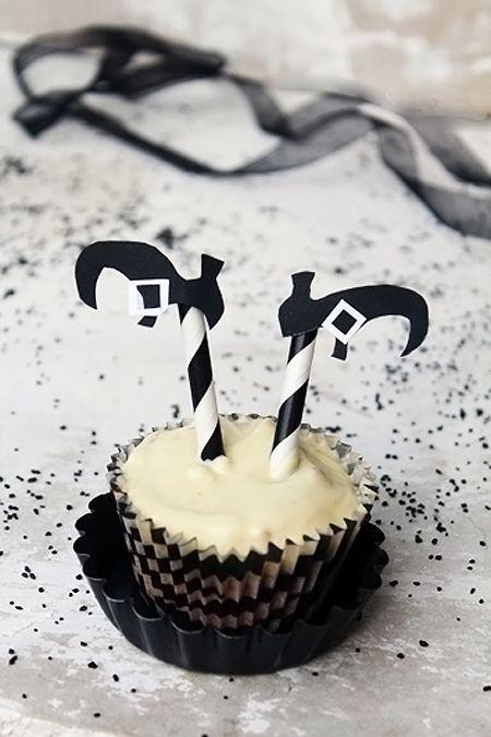 Cupcake de brujita.  Una receta fácil de Halloween