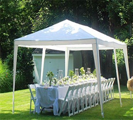 Quictent 10 X 20 Party Tent With 4 Sides And 2 Zipper Doors White Outdoor Tent Canopy Outdoor Party Tent