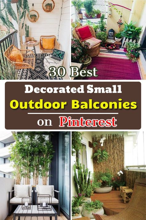 Take inspiration from The Best Decorated Small Outdoor Balconies on Pinterest to make a similar one for yourself in an urban apartment!