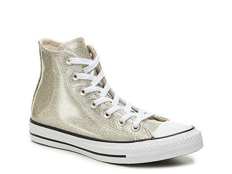 ea720b9042f Women Chuck Taylor All Star Glitter High-Top Sneaker - Women s -Gold ...