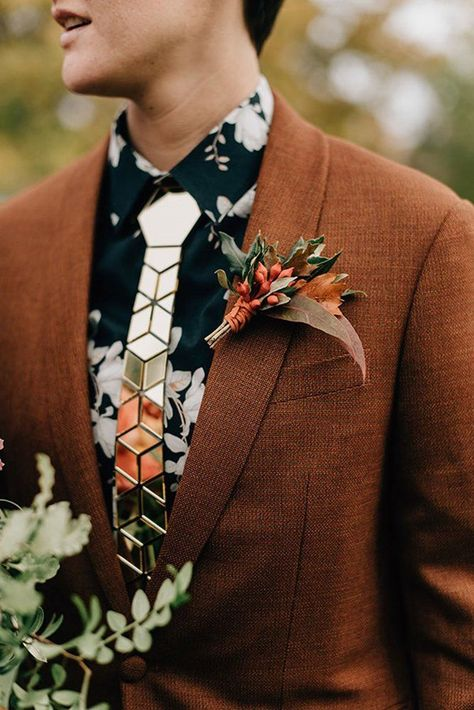 27 Rustic Groom Attire For Country Weddings ❤ rustic groom attire brown jacke. 27 Rustic Groom Attire For Country Weddings ❤ rustic groom attire brown jacket with boutonniere flower tie sara monika