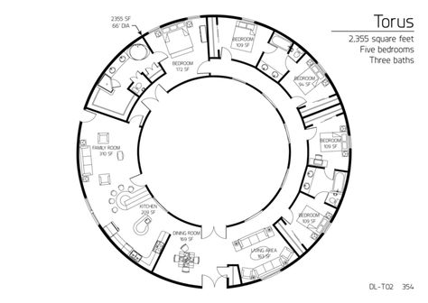 Cob house in the round