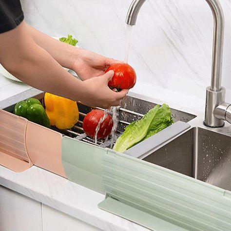 Kitchen Sink Wash Dishes Prevent Water Splash Baffle Board Dam-board Practical