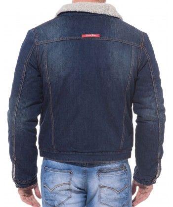 Veste en jeans fourrée bleue   Recherche Costumes   Jackets