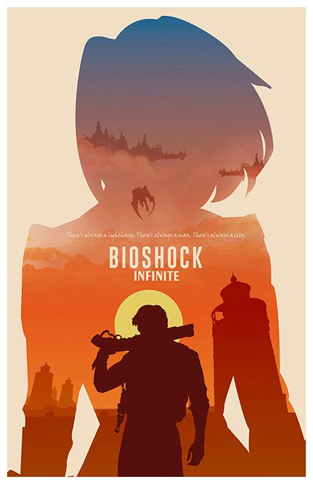 This item is a print of the alternative poster inspired by BIOSHOCK INFINITE. The poster is designed by me and features the quote Theres