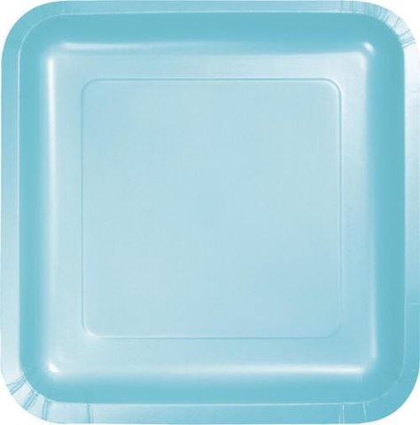 10 Ct Strong 6 1 2 Inch Square Pastel Blue Dessert Paper Plates Appetizer Cake Size Plates Bir Square Plates Paper Plates
