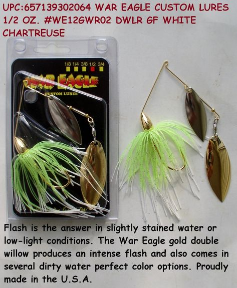 War Eagle Custom Lures Spinnerbait Mustad Hook  Sexxy Mouse 1//2oz New