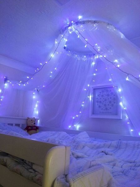 Diy Fairy Lights Decoration Ideas Led Lighting Bedroom Fairy Lights Bedroom Girl Bedroom Decor