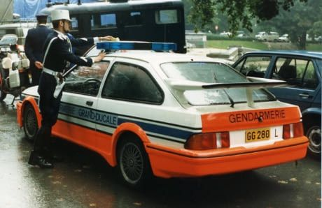 Ford Sierra Rs Cosworth From Luxembourgish Gendarmerie Grand