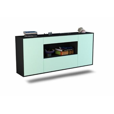 Sideboard Knollwood Ebern Designs Farbe Korpus Front Anthrazit
