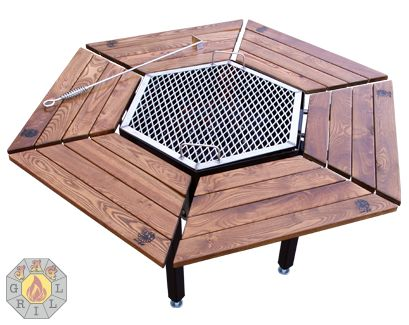 Purchase Luxury Grill, FirePit, Grill, BBQ, Table, FirePit Grill, FirePit  Table, Luxury FirePit, Charcoal Grill, Wooden Grill, Man Grill, Park Grilu2026