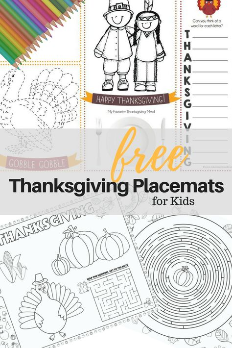 Thanksgiving Place Mat Printables For Kids Tampa Mom Blogger Thanksgiving Placemats Thanksgiving Kids Thanksgiving Placemats Preschool