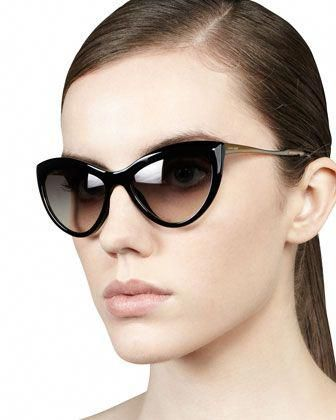 ef161d9d2c23 Large+Cat-Eye+Sunglasses,+Black+by+Miu+Miu+at+Neiman+Marcus. #MiuMiu ...