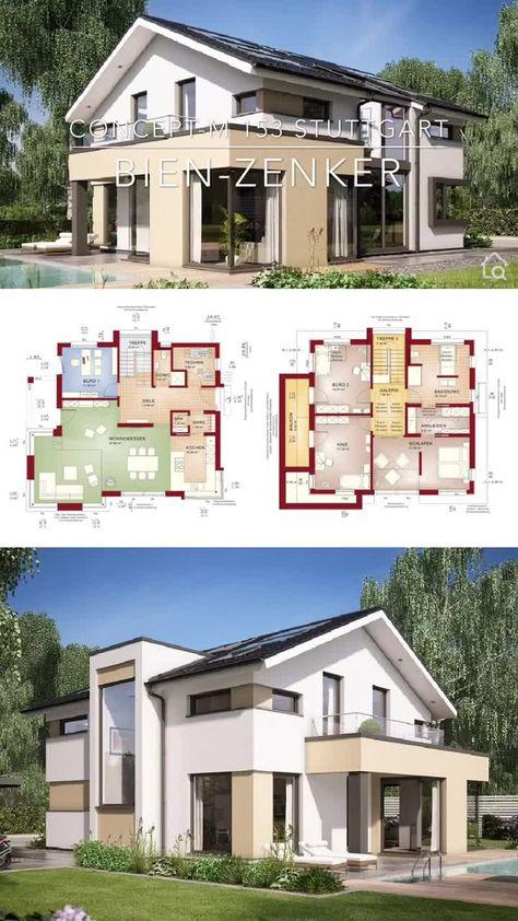 Fertighaus CONCEPT-M 153 Stuttgart - Bien-Zenker ➤ Einfamilienhaus mit Satteldach ✔︎ Bilder ✔︎ Grundrisse ✔︎ Preise jetzt ansehen auf HausbauDirekt.de