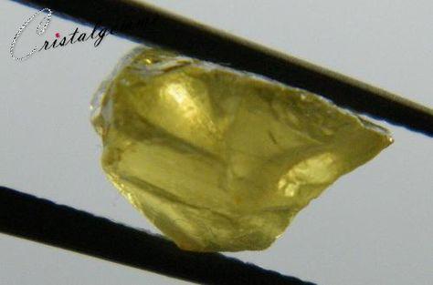 Cristal d'apatite jaune