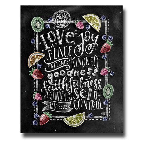 Fruit Of The Spirit Wall Art Bible Verse Print Scripture | Etsy