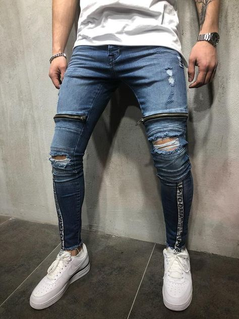 Explore Who You Are With Monocloth Street Fashion Buy Distinctive Models Of Jeans For Men And Enjoy Wo Slim Fit Mens Jeans Mens Fashion Jeans Ripped Jeans Men