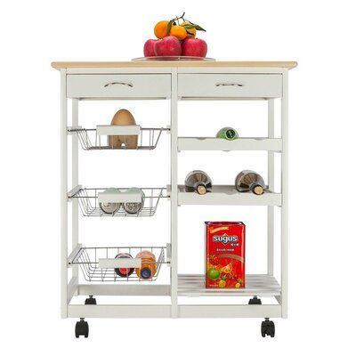 Winston Porter Isidoro Kitchen Cart Kitchen Island Storage Kitchen Cart Kitchen Storage Cart